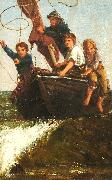 James Charles Bringing the boat ashore oil painting