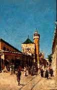 Johann Georg Grimm Street in Tunis oil painting