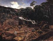 Johann Georg Grimm Waterfall in Teresopolis oil painting