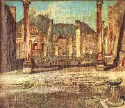 Kosztka, Tivadar Csontvry Pompeji Have oil painting reproduction