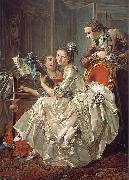 Louis Rolland Trinquesse The Music Party oil painting reproduction