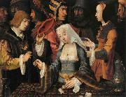 Lucas van Leyden FortuneTeller with a Fool oil painting