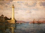 Michael Zeno Diemer The Ahirkapi Lighthouse oil painting