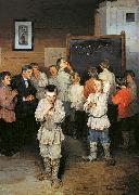 Nikolay Bogdanov-Belsky Mental Calculation. In Public School of S. A. Rachinsky oil painting