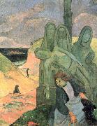 Paul Gauguin The Green Christ oil painting reproduction