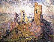 Paul Signac Landscape with a Ruined Castle oil painting reproduction