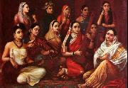 Raja Ravi Varma Galaxy of Musicians oil painting reproduction