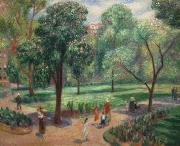 William Glackens The Horse Chestnut Tree, Washington Square oil painting reproduction