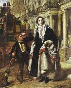William Powell Frith The Crossing Sweeper oil painting reproduction