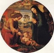 ALBERTINELLI Mariotto The Adoration of the Child with an Angel oil painting reproduction