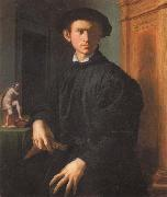 Agnolo Bronzino Portrait of a Young Man with a Lute oil painting