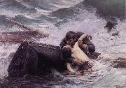 Alfred Guillou Adieu oil painting