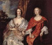 Anthony Van Dyck Anna Dalkeith,Countess of Morton,and Lady Anna Kirk oil painting