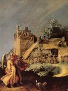 BLOEMAERT, Abraham Landscape with Tobias and the Angel oil painting reproduction