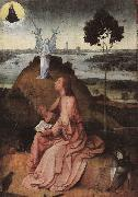 BOSCH, Hieronymus St. John on Patmos oil painting