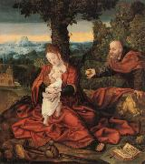Barend van Orley Rest on the Flight into Egypt oil painting