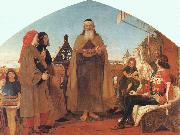 Brown, Ford Madox Wycliffe Reading his Translation of the New Testament to his Protector- John of Gaunt oil painting