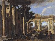 CODAZZI, Viviano Arcitectural View with Two Arches oil painting