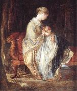 Charles west cope RA The Young Mother oil painting