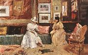 Chase, William Merritt A Friendly Visit oil painting reproduction