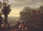 Claude Lorrain Landscape with Acis and Galathe oil painting reproduction