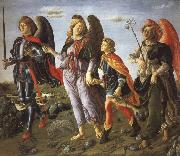 Francesco Botticini Tobias and the Tree Archangels oil painting