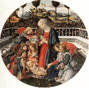 Francesco Botticini The Adoration of the Child oil painting