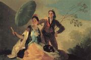 Francisco de goya y Lucientes The Parasol oil painting