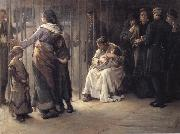 Frank Holl Newgate-Committed for trial oil painting