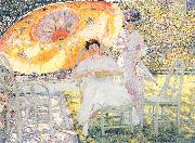 Frieseke, Frederick Carl The Garden Parasol oil painting reproduction