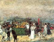 Glackens, William James Fruit Stand, Coney Island oil painting