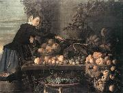 HEUSSEN, Claes van Fruit and Vegetable Seller oil painting