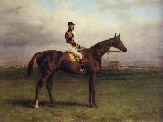 Harry Hall Mr.R.N.Blatt's 'Thorn' With Busby Up on york Bacecourse oil painting