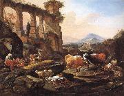 Johann Heinrich Roos Landscape with Shepherds and Animals oil painting