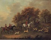 John Nost Sartorius Entering The Woods,A Hunt oil painting