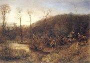 John William North,ARA A Gypasy Encampment oil painting