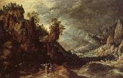 KEUNINCK, Kerstiaen Landscape wiht Tobias and the Angle oil painting