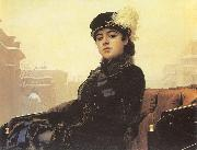 Kramskoy, Ivan Nikolaevich Portrait of a Woman oil painting