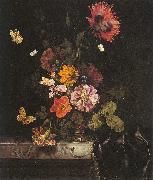 Lachtropius, Nicolaes Flowers in a Gold Vase oil painting