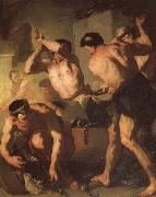 Luca Giordano Vulcan's Forge oil painting