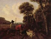 Ludolf de Jongh Hunters and Dogs oil painting reproduction