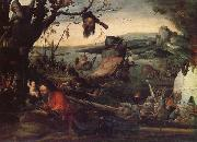 Mandyn, Jan Landscape wtih the Legend of St.Christopher oil painting reproduction