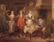 Nicolas Lancret The Marriage Contract oil painting reproduction