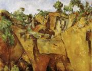Paul Cezanne Quarry at Bibemus oil painting reproduction