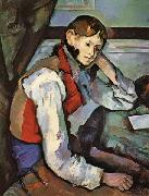 Paul Cezanne The Boy in the Red Waistcoat oil painting reproduction