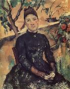 Paul Cezanne Madame Cezanne in the Conservatory oil painting reproduction