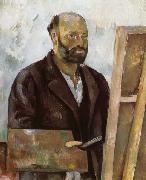 Paul Cezanne Self-Portrait with a Palette oil painting reproduction