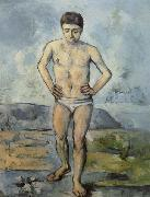 Paul Cezanne Man Standing,Hands on Hips oil painting reproduction