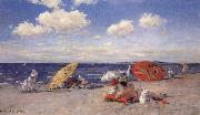 William Merrit Chase At the Seaside oil painting