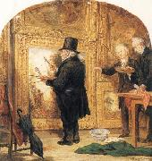 William Parrott J M W Turner at the Royal Academy,Varnishing Day oil painting reproduction
